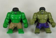 Lego Marvel Super Heroes Hulk Big Figure Lot Mini Tan Pants Purple Pants