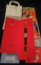 Swatch Collector's Club Watch 1998 - Garden Turf - Pristine Plus Catalogues