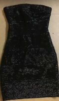 Wow Couture Dress Sexy Strapless Women's Size Small Mini Black Bodycon Dress