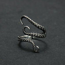 Retro Women Jewerly Octopus 316L Stainless Steel Ring #7 Adjustable C120