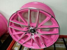 "18"" Inch Pink Machine wheel Rims White Diamond Edition 5 X 100 NICE NEW PRODUCT"