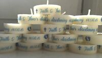 Personalised Tealight Candle Christening/ Baptism/ Communion Favours 10 30 40