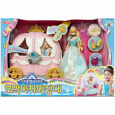Cinderella MIMI Pumpkin carriage Vanity set Role Play Korea barbie doll girl toy