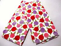 Ritz Love Rose Fiber Reactive Kitchen Towel Cotton Set of 2 Pink Red Purple