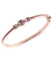 Givenchy Bracelet, Rose Gold-Tone Swarovski Vintage Glass Stone Bangle Bracelet