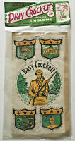 Vintage 1955 Davy Crockett UNUSED Iron-On Emblems/Patches In Frontier Package