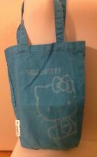 HELLO KITTY LIGHT BLUE TOTE BAG COTTON