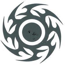 TRIBAL SUN BLACK OR TRIBAL DISK Temporary Tattoo