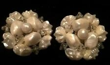 Stunning Faux Baroque Pearl Earrings; Perfect for a Wedding, Vintage Jewelry