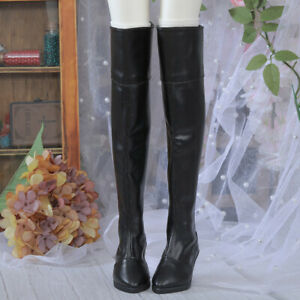 New Black shoes High leather boots For 1/3 BJD Doll