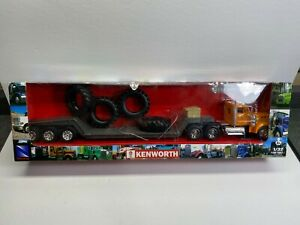 New Ray 1:32 Scale Kenworth Tire Hauler Front End Loader Lowboy New Boxed NoRes
