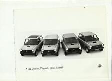 """Autobianchi A112 junior, élégant, elite, abarth press photo """"brochure connexes"""""""