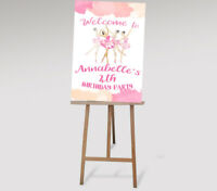 Printable Personalised Dancer Welcome Sign birthday party Ballerina Ballet 1st