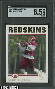 2004 Topps Collection #347 Sean Taylor Washington Redskins RC Rookie SGC 8.5