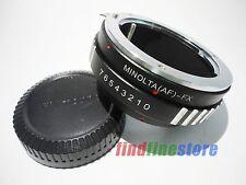 Sony Alpha Minolta AF MA Lens to Fujifilm Fuji FX X mount X-Pro1 adapter + CAP