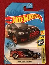 🔥2020 Hot Wheels 2008 Lancer Evolution '08 #69 * Black / Red * 🔥