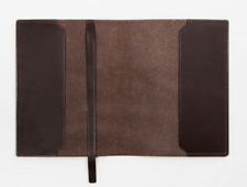 book jacket cover slipcase genuine cow leather fit for 9 3/4 x 14 3/8 brown Z915