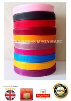 50m Organza Ribbon 12mm wide half inch various colour for cards , wedding cakes