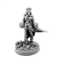 28mm-scale Imperial Soldier Female Commissar With Fists Of Power (Pin-Up)