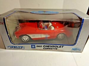 Welly 1/24 Scale 1957 Chevrolet Corvette new in Box