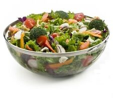 2 Large Plastic Silver Rimmed SALAD BOWLS - - - party wedding table serving bowl