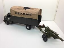 Marx ORIGINAL US Army Transport Truck w/ Shooting Cannon  # 3622 NOS