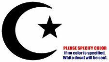 "Islam Muslim Crescent symbol JDM Vinyl Decal Sticker Car Window Bumper Wall 9"""