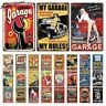 Garage Metal Sign Plaque Vintage Retro Metal Tin Sign Car Repair Man Cave Decor