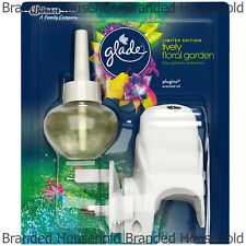 GLADE ELECTRIC PLUG IN MACHINE & REFILL AIR FRESHENER LIVELY FLORAL GARDEN