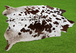 "New Cowhide Rugs Area Cow Skin Leather 32.08 sq.feet (70""x66"") Cow hide U-3857"