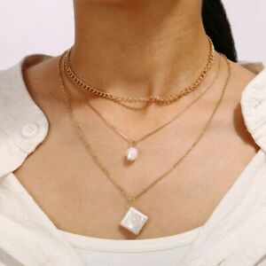 New Creative Vintage Bead Chain Clavicle Chain Pearl Necklace
