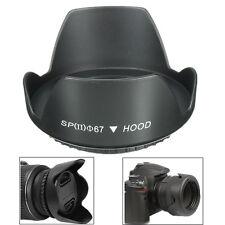Black 67mm Reversible Petal Flower Lens Hood For Nikon Canon Olympus DSLR Camera