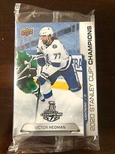 2020 Upper Deck Stanley Cup Champions Sealed 18 Card Set Tampa Bay Lightning