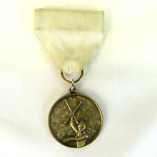 Vtg Gymnastics Baton Twirling Medal - Ribbon Pin