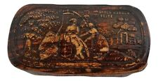 Antique German Birch Bark Snuff Box GUTEN MORGEN FRITZ