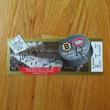 DON CHERRY JEAN BELIVEAU GORD KLUZAK signed Bruins Canadiens LAST HURRAH Ticket