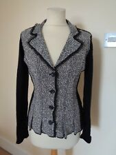 OUI BLACK AND GREY KNITTED JACKET