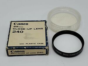 Canon 55mm Screw-In Close-Up 240 Macro Camera Lens Filter w/ Case & Box