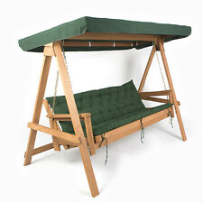 Wood garden patio swing seats ebay Wooden swing seats garden furniture
