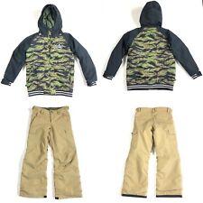 Burton Dryride Camo Jacket Brown Pants Room To Grow Boy Ski Snowboard Set Large