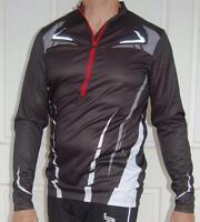 Cycling MTB Bike Jersey long sleeve Sport  Black & Red/White Men Unisex M L XL