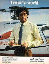 PUBLICITE ADVERTISING 104  1980  ARROW   chemises homme