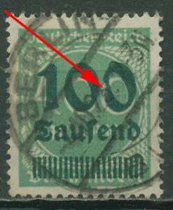 Deutsches Reich 1923 Freimarke mit Plattenfehler 290 AF ? gestempelt