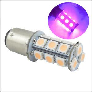 2 x 1157 2357 S25 Bay15D 18SMD 5050 LED Car Auto Brake Tail Bulbs Pinky Purple