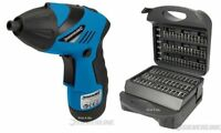 SILVERLINE 3.6V LITHIUM CORDLESS DRILL DRIVER SCREWDRIVER & 118 BITS IN CASE