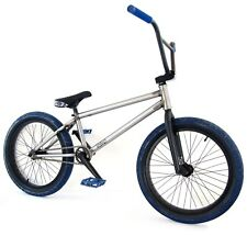 "Indimenticabile BMX 20"" BICI COMPLETA RAW/Blu-Flybikes FBM BSD Freestyle Luce Nuovo"