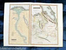 Egypt and Abyssinia-THOMSON 1817-Map Ethiopia Ethiopie Egypte cuivre carte