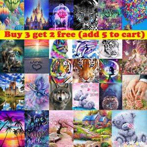 5D DIY Full Round Drill Diamond Painting Embroidery Cross Stitch Art Kits Decor