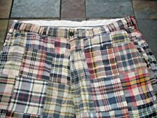 POLO RALPH LAUREN SZ 38 MULTI COLOR MADRAS PATCHWORK PLAID SHORTS