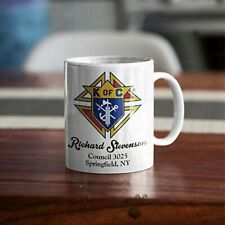 Knights Of Columbus 3rd Degree Fraternal KOC Coffee Mug Cup CUSTOM PERSONALIZED